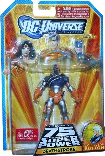 DC Universe Infinite Heroes 75th Anniversary Deathstroke With Collector Button by DC
