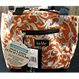 "Nicole Miller of New York Insulated Lunch Cooler- Orange Tangle - 10"" Lunch Tote"