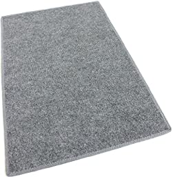 4\'x6\' - GRAY MULTI - Indoor/Outdoor Area Rug Carpet, Runners & Stair Treads with a Non-Skid Marine backing and Premium Nylon Fabric FINISHED EDGES . Olefin , 3/16\