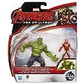 Avengers Marvel Age of Ultron Savage Hulk Vs Ultron Hunter Iron Man- p