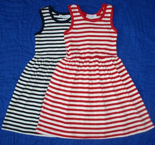 Organic Cotton Toddler Dress in Red Stripe and Navy Stripe - Buy Organic Cotton Toddler Dress in Red Stripe and Navy Stripe - Purchase Organic Cotton Toddler Dress in Red Stripe and Navy Stripe (Under the Nile, Under the Nile Dresses, Under the Nile Girls Dresses, Apparel, Departments, Kids & Baby, Girls, Dresses, Girls Dresses, Casual, Casual Dresses, Girls Casual Dresses)
