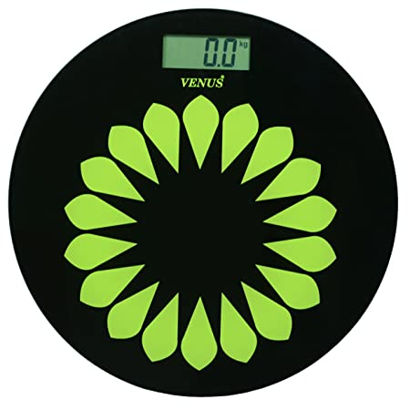 Venus Black Round Personal Electronic Digital LCD Weight Machine Body Fitness Weighing Bathroom Scale Weight Machine available at Amazon for Rs.799