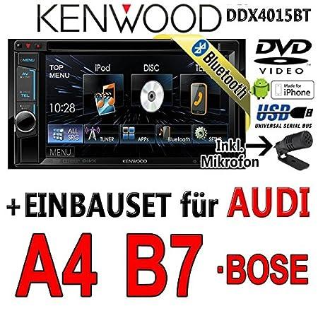 Audi a4 b7 kenwood-dDX4015BT 2DIN multimédia avec