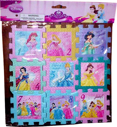 Buy Low Price Fun Disney Princess Foam Mat Puzzle 9 X 9