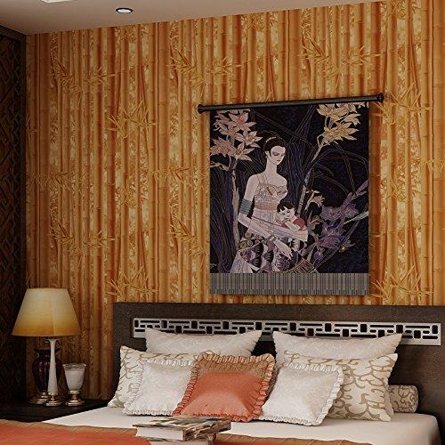 papel-pintado-hojas-frescas-fondo-de-te-teahouse-wallpapers-3d-de-papel-pintado-de-bambu-86092-yello