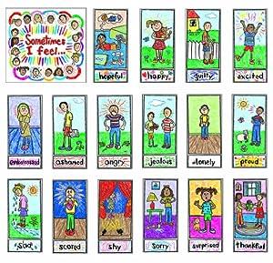 Carson Dellosa - Decoraciones Murales - Bulletin Board Set - Kid-Drawn Emotions - Grades K - 3 - (Cd-3250) marca CARSON DELLOSA