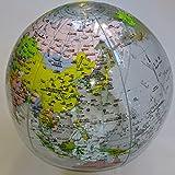 空気でふくらむ風船地球儀 グローブボール(クリア)