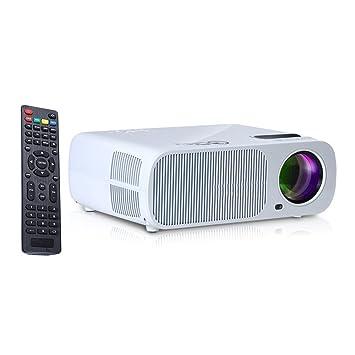 iRULU Vidéoprojecteur Portable pour Home Cinéma - Résolution 800*480 - 2600 Lumens - Blanc