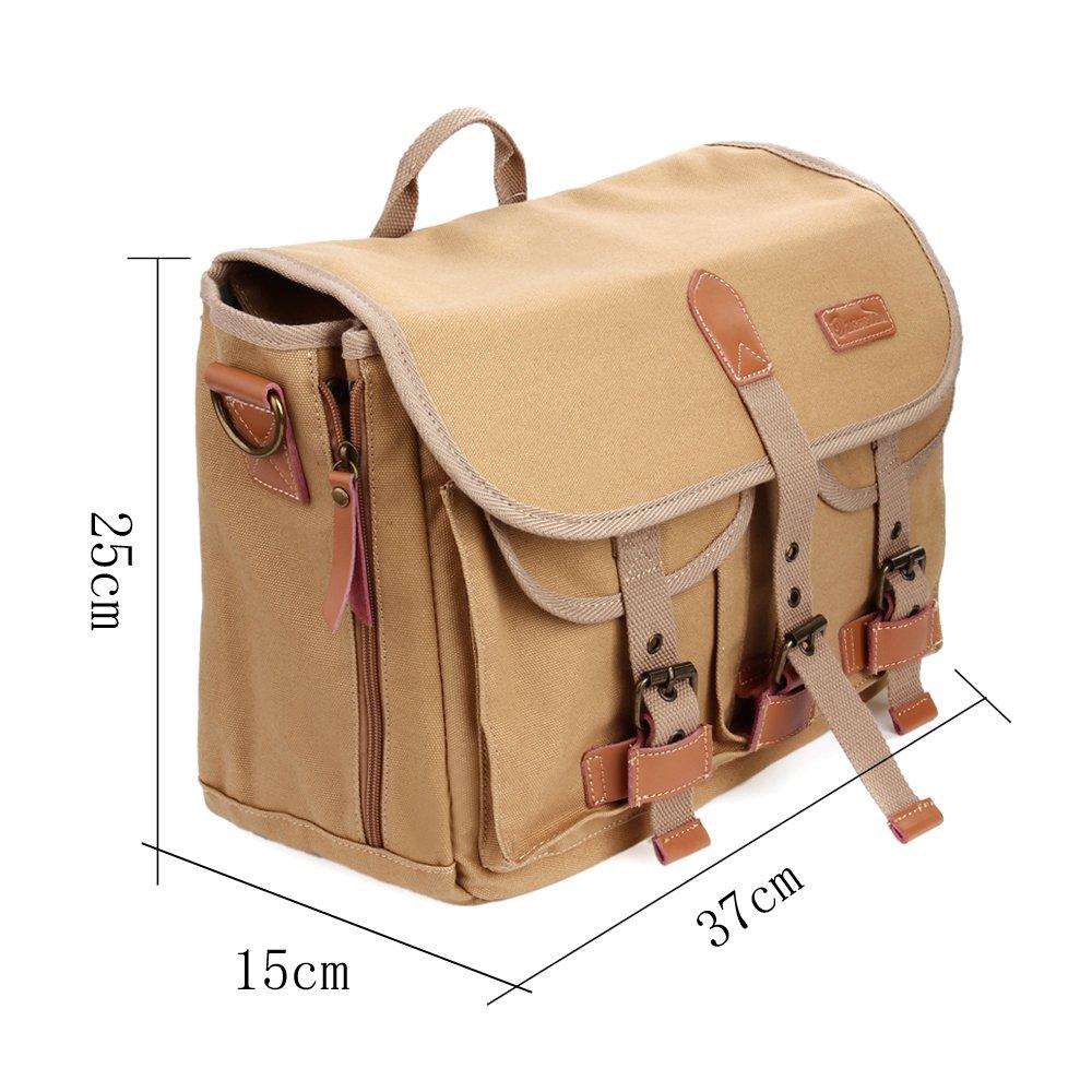 Zebella Casual Waterproof Canvas Shoulder Bag SLR DSLR Camera Case 1