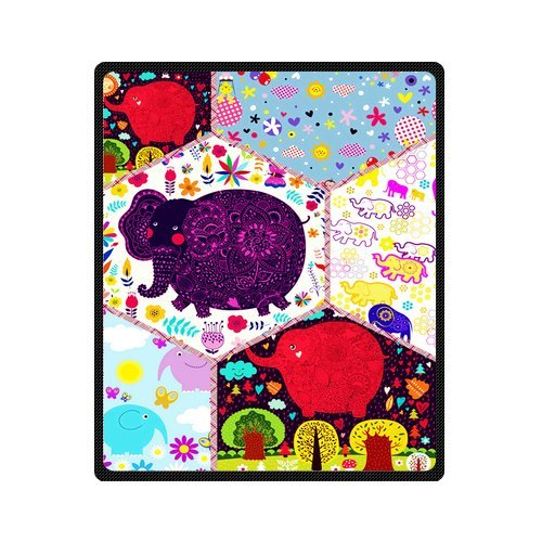 "Personalized Cute Dogs Jigsaw Blanket 50""X 60""(Medium) front-758622"