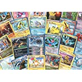 100 Assorted Pokemon Trading Cards with 7 Bonus Free Holo Foils