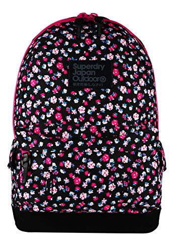 Superdry Dewberry Montana Zaino Casual, 40 cm, Black Ditsy (VKN)