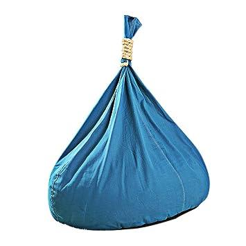 XXFFH® Faul Sofa Eine Person, Blaue Leinen Sitzsack, Hanf Seil Griff Schön und bequem