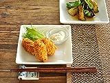 【M'home style】白い食器 和食のスクエアー取り皿 ホワイトレベル2