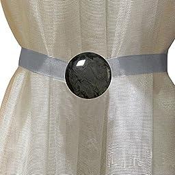 EleCharm Simple Marbling Magnetic Curtain Buckle Tieback Wrap Fastener Holdbacks Drapery (Black Nickel)