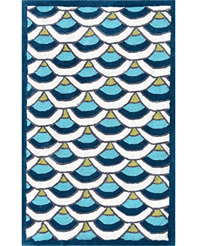 "The Rug Market Chi-Lin Area Rug, Blue, 4.7"" x 7.7"""