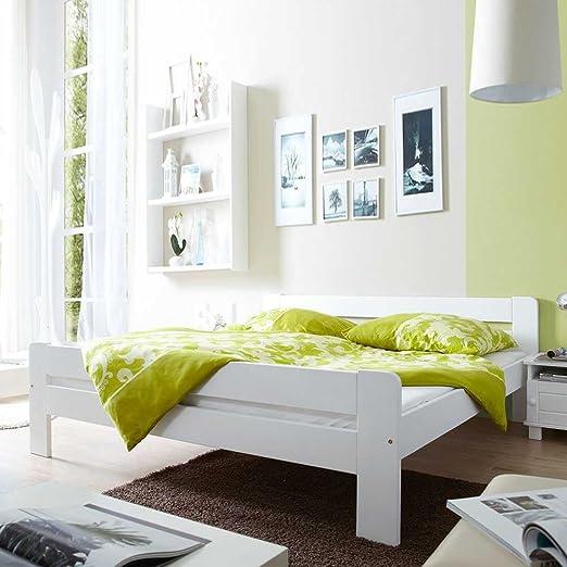 Holzbett Airo in Weiß Breite 147 cm Liegefläche 140x200 Pharao24