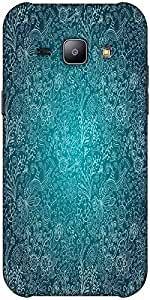 Snoogg seamless texture with flowers Hard Back Case Cover Shield ForSamsung Galaxy J1
