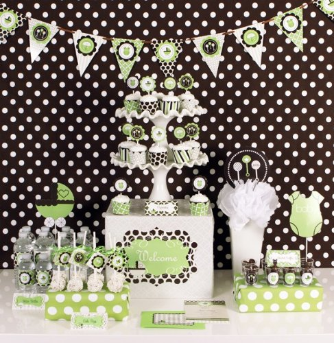 Green Baby Shower Mod Party Kit - 1