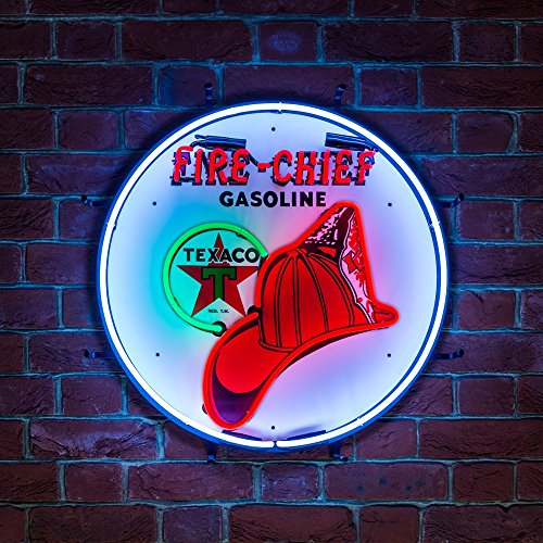 new-neon-light-bar-pub-mancave-sign-vintage-advertising-texaco-fire-chief-petrol