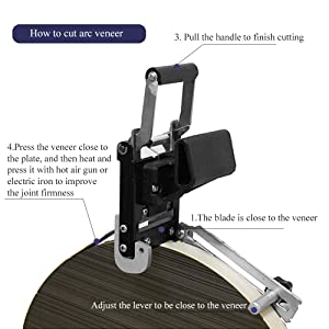NEWTRY Hand Edge Trimmer Woodworking PVC Veneer Edge End Cutter Banding Trimmer for Straight Round Edge