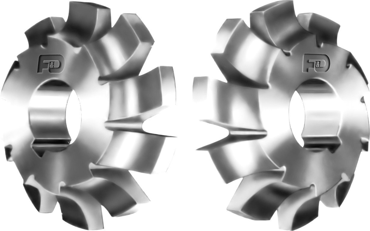 F&D Tool Company 12418-C313L Corner Rounding Cutters, 7/16  Radius, 3.25 Diameter, 5/8  Width, 1 Hole Size d lin d147819 f