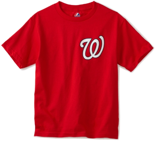 MLB Washington Nationals Wordmark Basic T-Shirt Red, Medium at Amazon.com