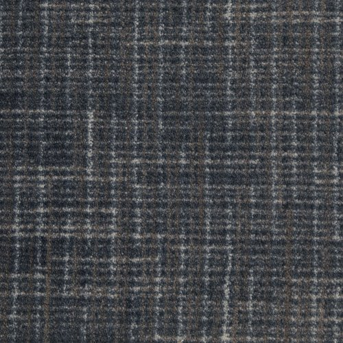 """Half Round 5'X2'6"""" Stitches Brushed Denim Indoor Cut Pile Pattern Area Rug For Home With Premium Bound Polyester Edges."""