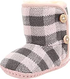 UGG Kids Baby Girl\'s Purl Pine (Infant/Toddler) Baby Pink Boot MD (US 4-5 Toddler) M
