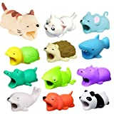 Dolloress ?12PCS(Dog + Crocodile + Shark + Turtle + Cat + Hippo + Panda + Rat + Chameleon + Compatible For Iphone Cable Animal Bit Cord Data Line Animal Phone Accessory Protects Cute Cell Phone