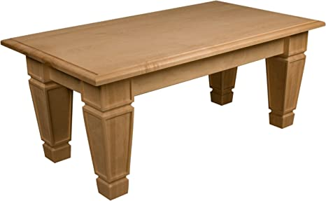 Coffee Table Kit - Mission Style in Knotty Pine - Dimensions: 19 x 24 x 46 inches
