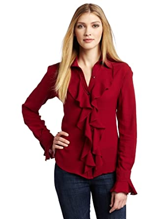 WHAT GOES AROUND COMES AROUND Women's Deneure Long Sleeve Top, Biking Red, Small