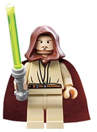 Lego - Mini-Figurine Star Wars - Qui-Gon Jinn (Teint beige et Fossette au Menton)