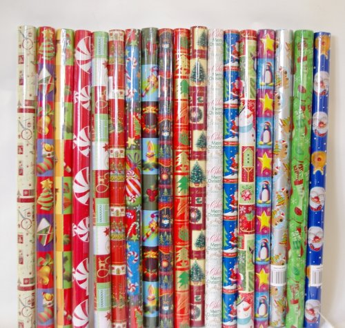 10 X 2m Rolls Christmasassorted Designs Asos Santa Bell Xmas Trees Stocking Rudolph Traditional By Xmas Wrapping Paper