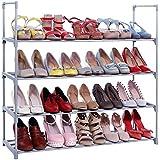 Songmics ULSA14G Shoe Rack Storage Cabinet 4 - Tier, Black