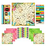 Scrapbook Customs Themed Paper and Stickers Scrapbook Kit, Cuba Paradise