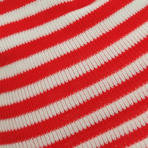 Trendy Striped Beanie - Red White W29S18F