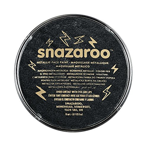 Snazaroo Metallic Face Paint, 18ml, Electric Black