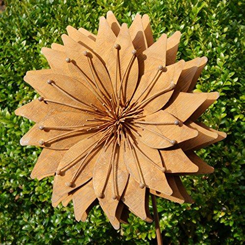 Gartenstecker sonnenblume metallbume bl te metall rost for Gartenaccessoires rost