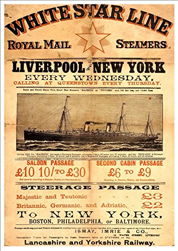 white-star-line-liverpool-to-new-york-mail-steamers-majestic-teutonic-wonderful-a4-glossy-art-print-