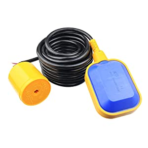 Nxtop 10M Cable Float Switch Water Level Controller for Sump Pump, Water Tank