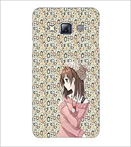PrintDhaba Cute Girl D-2049 Back Case Cover for SAMSUNG GALAXY A3 (Multi-Coloured)