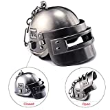 Focux PUBG Playerunknown's Battlegrounds Level 3 Helmet KeyChain Helmet Accessories PUBG Keychain Charm Souvenir Gifts PUBG Logo (Large Helmet) (Color: Large Helmet)