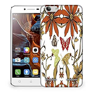 Snoogg Orange Flower Designer Protective Phone Back Case Cover For Lenovo K5 Vibe