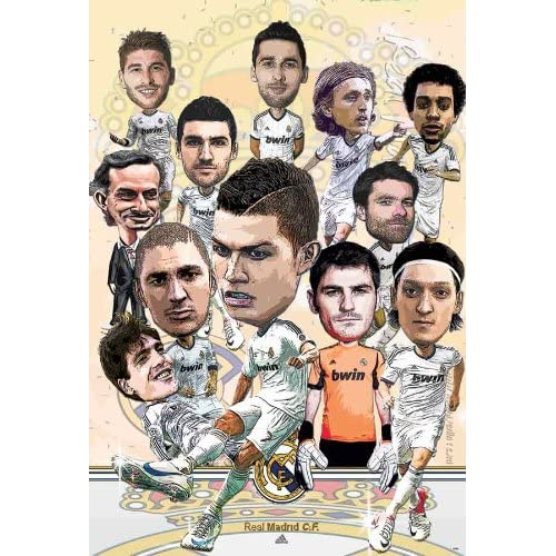 "Real Madrid Term 2013 ""Cartoon , Comic ""Football,soccer Poster - Rare"