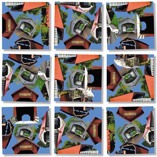 B Dazzle Covered Bridges Scramble Squares 9 Piece Puzzle