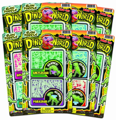 Ja-Ru Dino World Glow Fossils Party Favor Bundle Pack