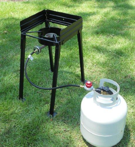 Heavy Duty Portable Stove : King kooker cs portable propane btu single burner