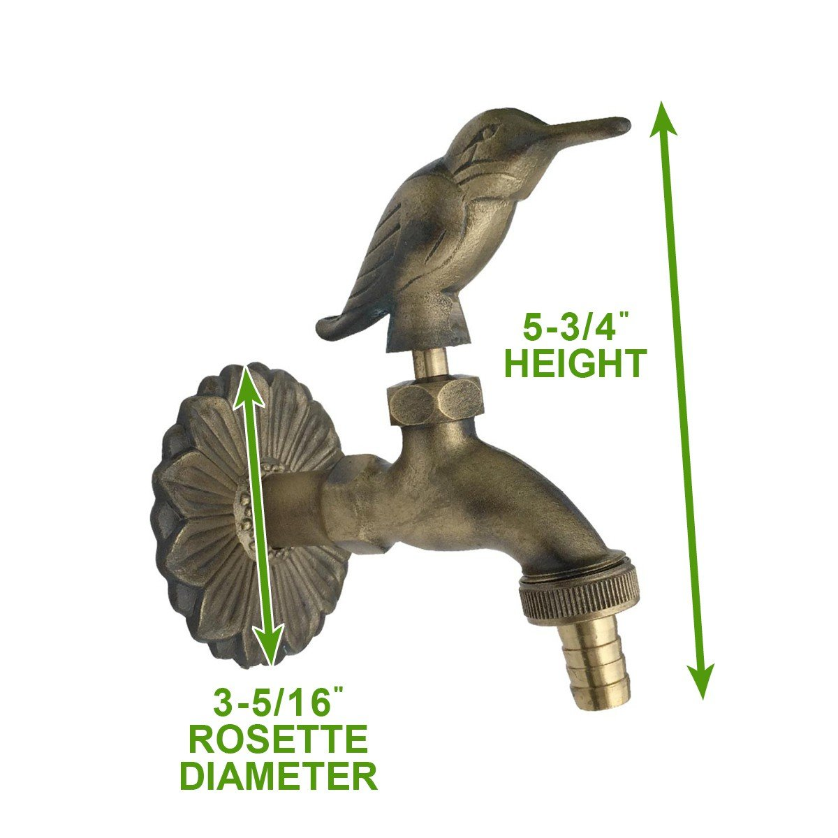 Outdoor Faucet Bird Spigot Garden Tap Antique Brass | Renovators Supply 2