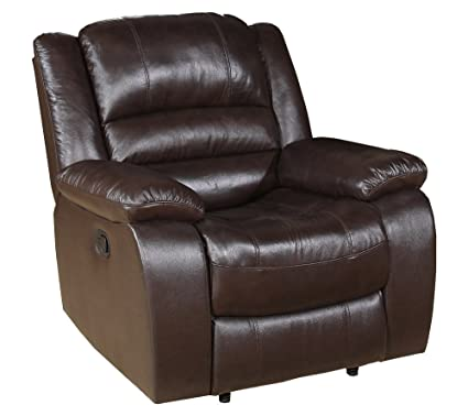 Abbyson Living Dallas Italian Leather Reclining Armchair
